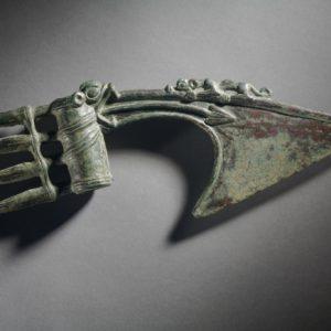 Бронзовый топор, Луристан, 1350 - 1200 гг. до н.э., Музей естественной истории Лос-Анжелеса